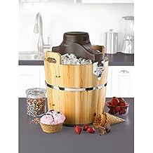 Electric Old Fashion Pinewood Bucket Ice Cream & Frozen Yogurt Maker ● 4 Quarts