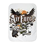 Royal Lion Baby Blanket White US Air Force Any Time Any Place Where