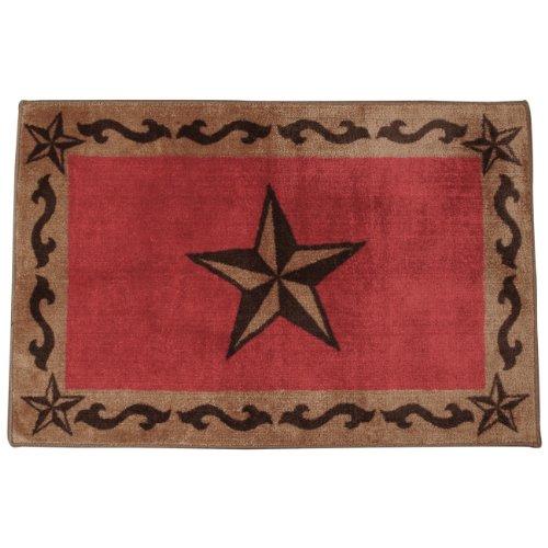 Beau Red Star Bath Western Rug   Rustic Decor