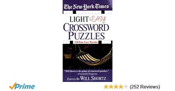 The New York Times Light And Easy Crossword Puzzles 130 Fun Easy
