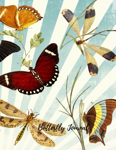 Butterfly Journal: Large 8.5 by 11 Lined, Ruled Paper Notebook To Write In For Men, Women, Girls, Boys, Kids & Adults. Blank Writing Book Pad With 150  Pages (Lined Journals) (Volume 1)
