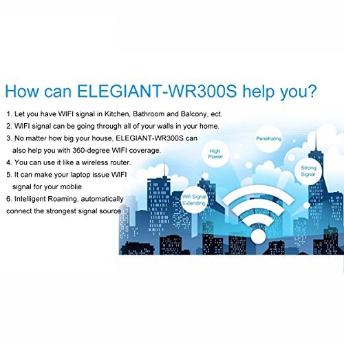 WiFi Range Extender, ELEGIANT 300Mbps Wireless WiFi Repeater Signal Amplifier Booster Supports Router Mode/Repeater/ Access Point, with High Gain Dual External Antennas and 360 degree WiFi Coverage by ELEGIANT (Image #9)