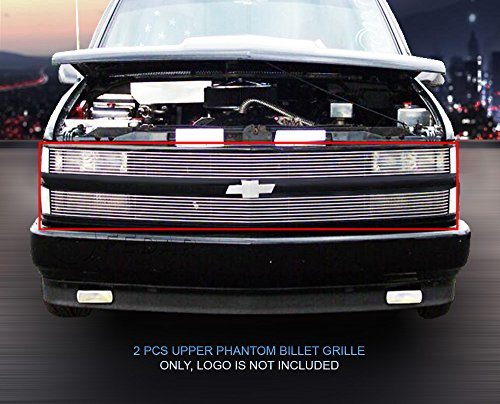- Fedar 1994-1999 Chevy Blaze/C/K Pickup/Suburban/Tahoe Phantom Billet Grille Grill 2-pcs Set-Polished # 320369