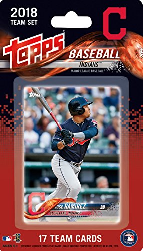 fan products of Cleveland Indians 2018 Topps Factory Sealed Special Edition 17 Card Team Set with Corey Kluber and Francisco Lindor plus