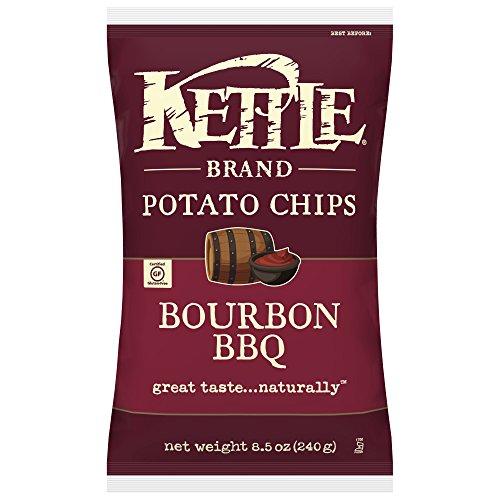 Kettle Brand Potato Chips, Bourbon BBQ, 8.5 Ounce (Pack of 12)