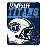The Northwest Company 1 Pc, Tennessee Titans Blanket 46x60 Micro Raschel 40 Yard Dash Design Rolled, Acrylic & Polyester, Extra Warm & Superior Durability, Easy Care, Machine Washable & Dryable