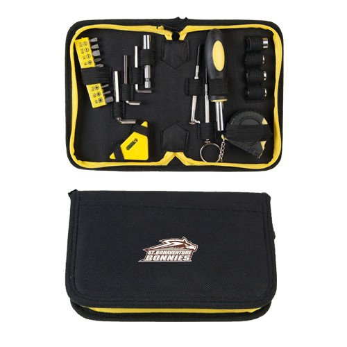 CollegeFanGear St Bonaventure Compact 23 Piece Tool Set 'Official Logo' by CollegeFanGear