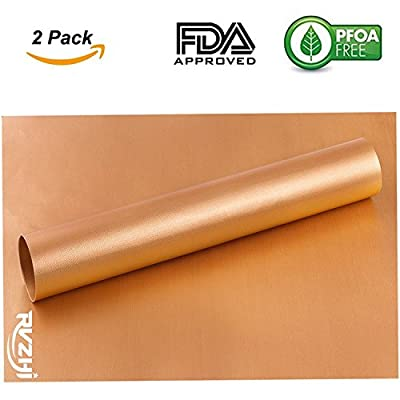 RVZHI Copper Grill Mat Variation - 15.75 x 13 Inch from RVZHI