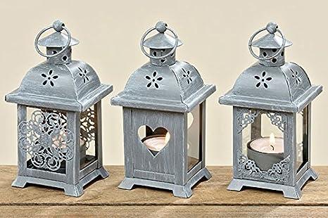 Portacandele Da Giardino : Lanterna con cuore set di portacandele in legno decorativa da