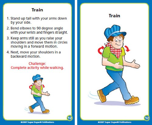 Upper Body and Core Strength Exercise Flash Cards - Super Duper Publications Educational Learning Toy for Kids