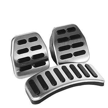 Pedal de embrague - 3 PC de acero inoxidable Manual Pedal MT Kit para VW Skoda Fabia.: Amazon.es: Coche y moto