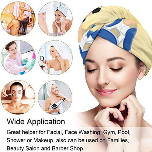 Coollifea Hair Towel Wrap Turban,Vegeta Bold and Brash Microfiber Hair Towel Wraps for Women