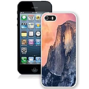 NEW Unique Custom Designed iPhone 5S Phone Case With OS X Yosemite Cliff_White Phone Case