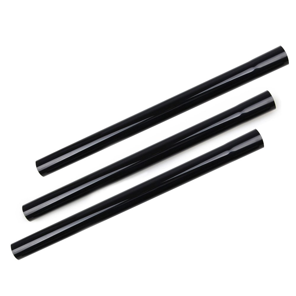 "Huiaway 1.25inch 32mm Extension Wands 1-1/4"" Tube Hose Plastic Wand Pipe for Vacuum Cleaner Accessories Extend Wand to 17.7inch Long 3 Piece(Black)"
