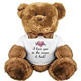 Layla, I Love You To The Moon And Back: Medium Plush Teddy Bear