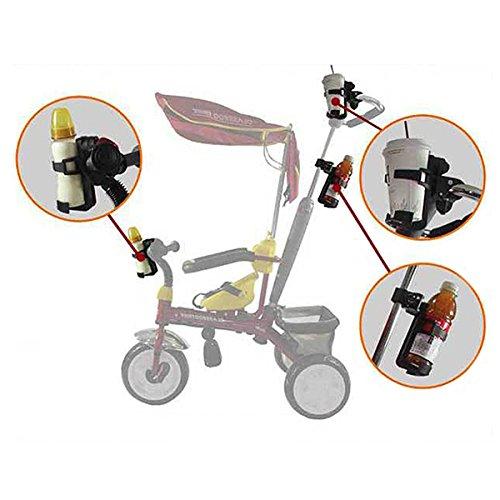 Nuolux Soporte para vasos universal para cochecito o bicicleta color negro