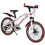KTYX-Fuoristrada-Biciclette-Biciclette-A-velocit-Variabile-di-Fronte-A-7-Marce-E-Freni-A-Disco-Posteriori-A-velocit-Variabile-Mountain-Bike-per-BambiniBianca