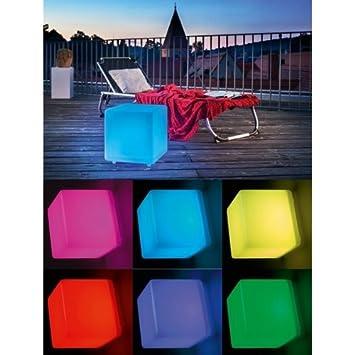 Esotec Cube Lumineux Solaire  Cm AmazonFr Cuisine  Maison