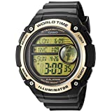 Casio Men's 'Classic' Quartz Resin Casual Watch, Color:Black (Model: AE-3000W-9AVCF)