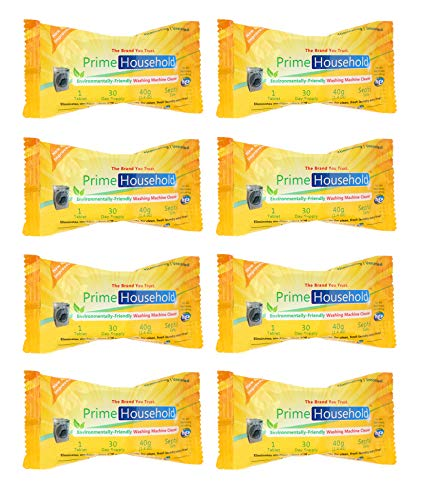 PrimeHousehold Washing Machine Cleaner, 8-Tablets, 11.2 oz (Best Small Top Loader Washing Machine)