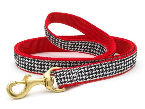 Up Country Houndstooth Dog Lead 6ft x 1in