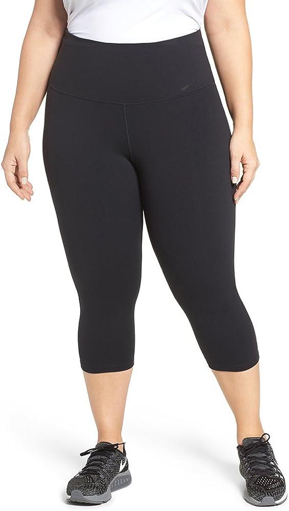 Nike Womens Plus Size Dri-fit High-Rise Cropped Leggings