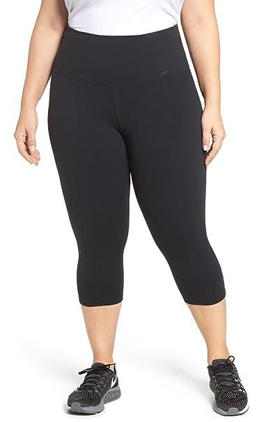 20dd5471c114b4 Nike Women's Plus Size Dri-fit High-Rise Cropped Leggings (Black, ...