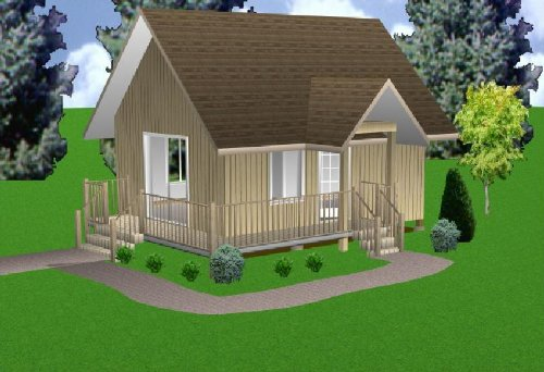 Used, Easy Cabin Designs 16x22 Cabin w/Loft Plans Package, for sale  Delivered anywhere in USA