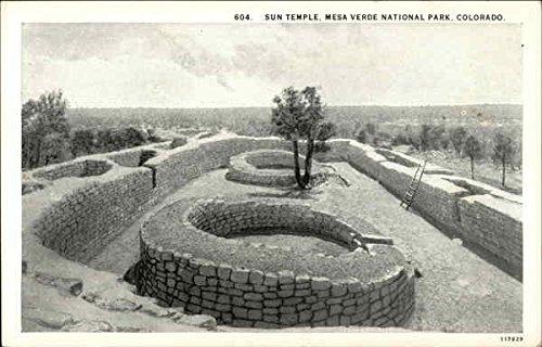 View of Sun Temple Mesa Verde National Park Original Vintage Postcard