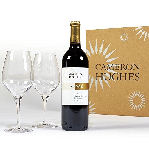 Cameron Hughes Wine Lot 606 + Stolzle Wine Glasses Wine Gift Set, 1 x 750mL