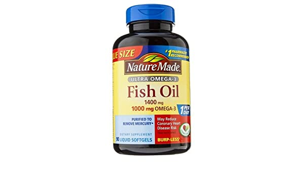 Amazon.com: Nature Made Ultra Omega-3 Fish Oil 1400 Mg Softgels - 90 Count: Health & Personal Care