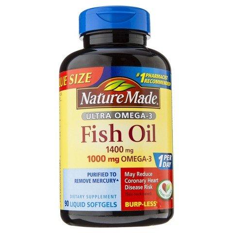 Nature Made Ultra Omega-3 Fish Oil 1400 Mg Softgels - 90 Cou