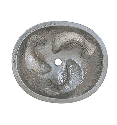 Thompson Traders 23-1221-C Moon Wrasse Oval Hand Hammered Copper Bathroom Sink by Thompson Traders by Thompson Traders