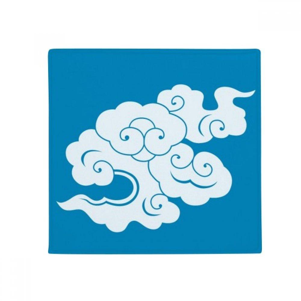 DIYthinker Painting Culture White Cloud Anti-Slip Floor Pet Mat Square Home Kitchen Door 80Cm Gift
