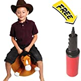 WALIKI TOYS Mr Jones: Large Plush Horse Hop Ball Hopper (Ages 6-9) Hopping Sit and Bounce with Handles