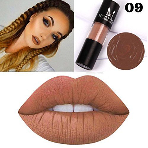 AutumnFall Lip Gloss,Sexy Charm Cylindrical Velvet Matte Lipstick Non-Stick Cup Long Lasting Waterproof Lip Balm For Beauty (I)