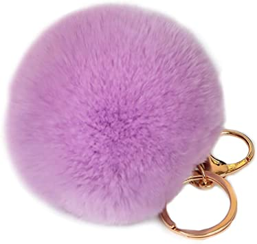 Pompom - Llavero largo con diseño de bola de pelo para mujer y ...