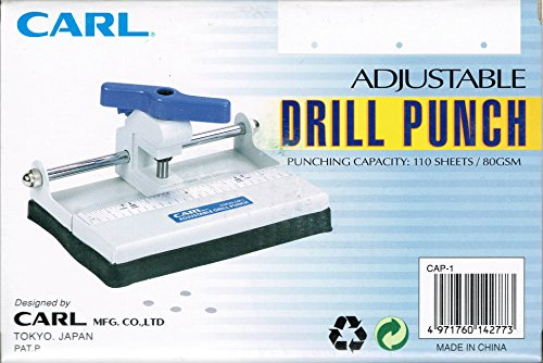 Carl Adjustable Drill Punch - Paper Drill - Single Hole