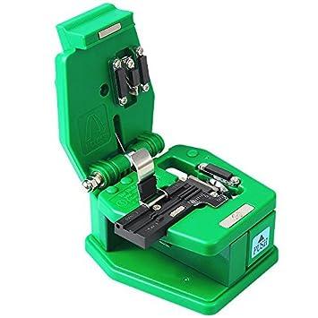 Goeco Cable de fibra óptica cortador fibra cuchillo de carnicero 36.000 Cleaves y revestimiento de diámetro: 250um - 900um con bolsa, Verde