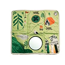 Manhattan Toy 215530 Camp Acorn Sensory Activity Play Mat with Tethered Teether Baby Toy