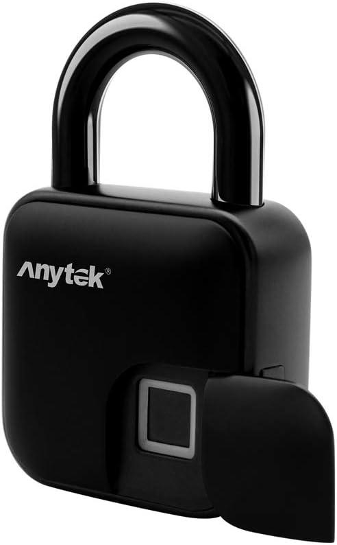 Anytek Fingerprint Lock Anti Theft Smart Keyless Padlock Door Box Bag Waterproof