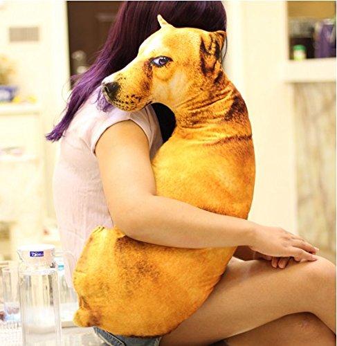 YunNasi Creative Simulation Dog Toys Plush Cartoon Character Cushion for Gifts (60cm, Wolf-Dog)