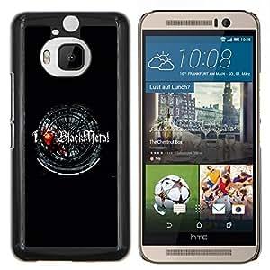 """For HTC One M9+ M9 Plus , S-type Amo Negro metal"""" - Arte & diseño plástico duro Fundas Cover Cubre Hard Case Cover"""