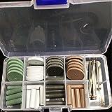 NEW 1 set Dental Silicone Rubber Polishing Grinding Wheels Burs Coarse Fine Ultra Fine 5 Shank Mandrel 2.35mm