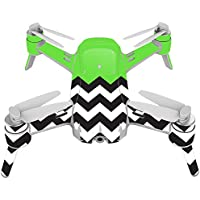 Skin For Yuneec Breeze 4K Drone – Lime Chevron | MightySkins Protective, Durable, and Unique Vinyl Decal wrap cover | Easy To Apply, Remove, and Change Styles | Made in the USA