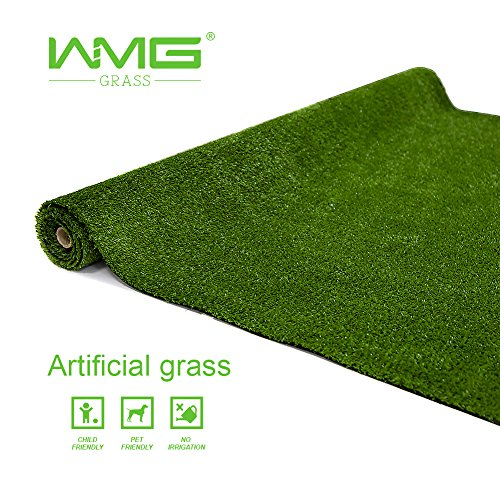 WMG Artificial Grass Lawn 4'x6' Synthetic Turf Grass Rug Green Fake Grass for Home Backyard Patio Balcony Indoor Outdoor Décor, 1 -