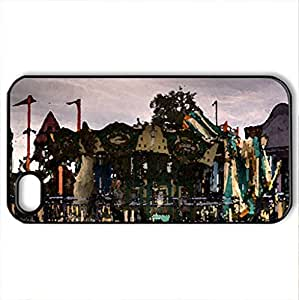 Abandoned Park - Case Cover for iPhone 4 and 4s (Amusement Parks Series, Watercolor style, Black)
