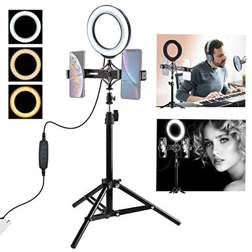 XBKPLO Practical USB Interface Brightness Adjustable Fill Light Beauty Lamp On-Camera Video Lights