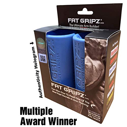 """Fat Gripz - The Award-Winning Shortcut To Head-Turning Arms (2.25"""" Diameter, Best Seller, Original, Blue)"""