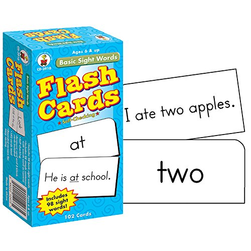 CARSON DELLOSA FLASH CARDS BASIC SIGHT WORDS 6 X 3 (Set of 12) by Carson-Dellosa